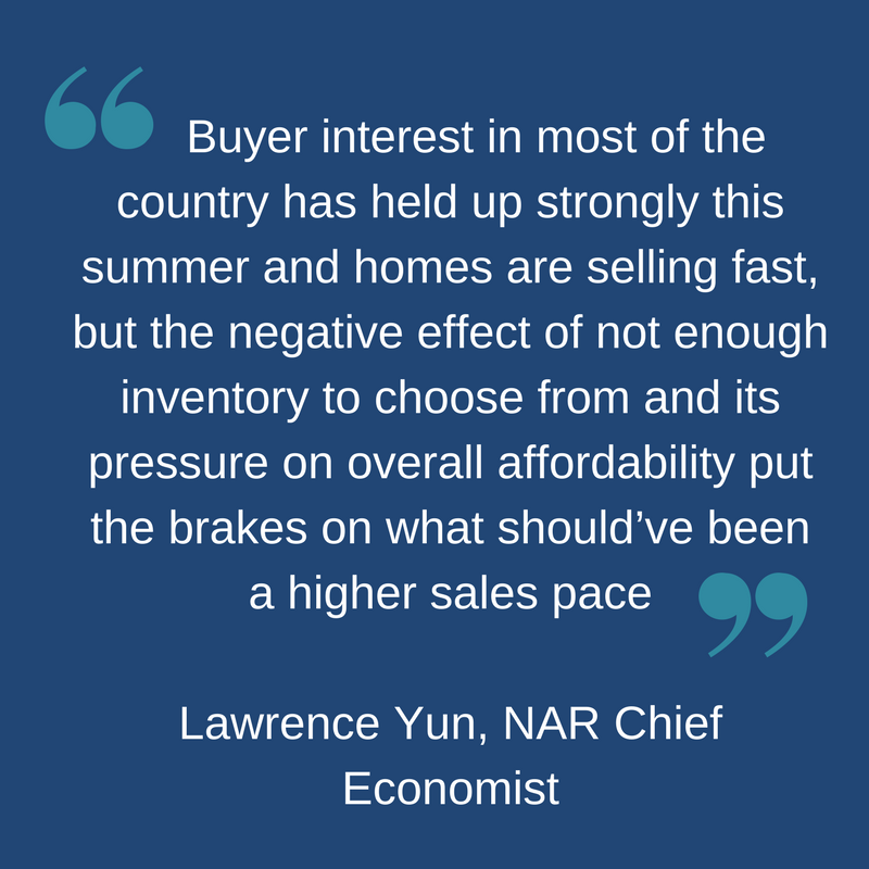 NAR Chief Economist on July 2017 Home Sales