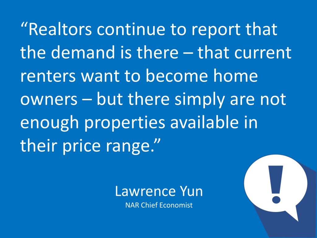 Lawrence Yun Sept 2018 US Home Sales