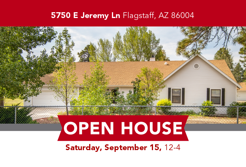 Open HOUSE 5750 E Jeremy Ln, Flagstaff, AZ 86004