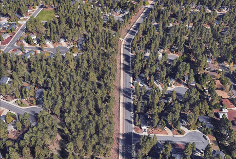 Railroad Springs, Flagstaff, AZ overhead view