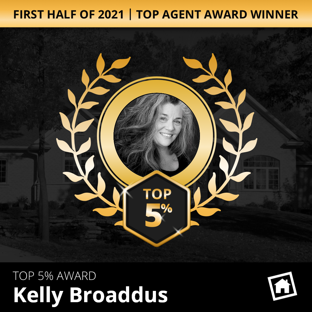 2021 Homesnap Top Agent Award - Kelly Broaddus
