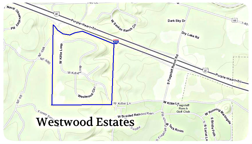 Map of Westwood Estates