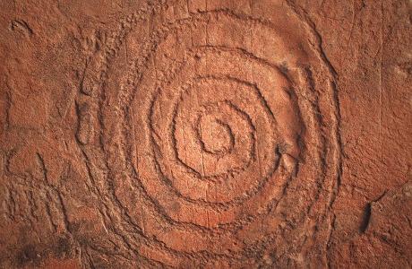 Sedona Native American rock art.