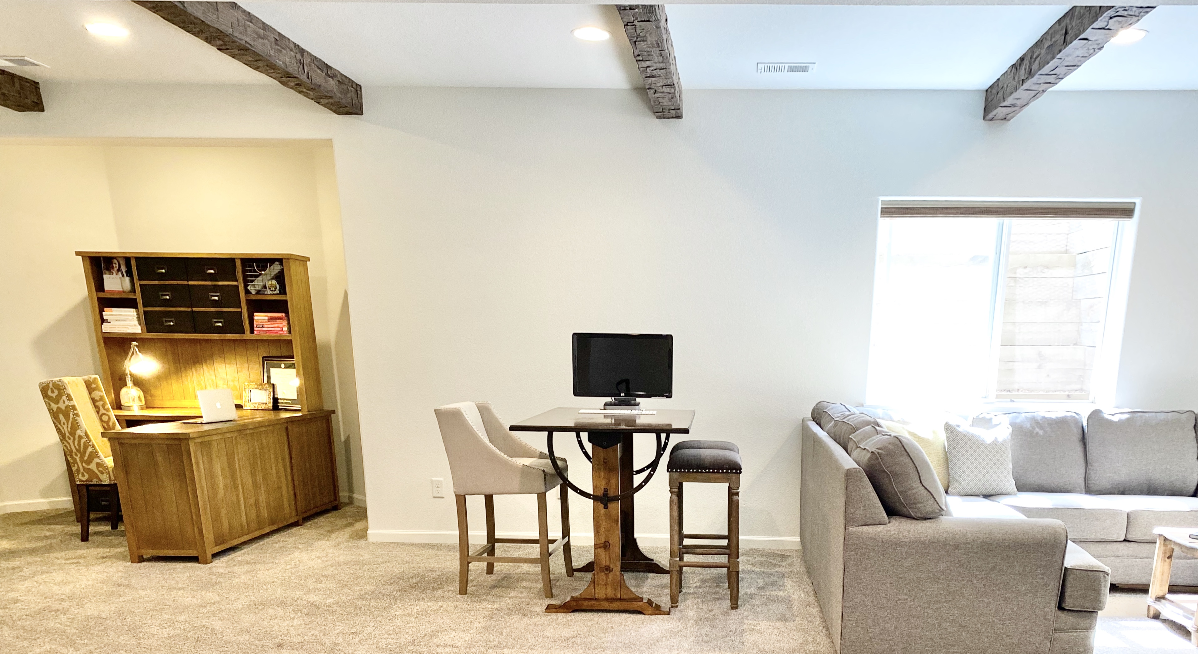 Basement home office transformation in our Fort Collins home