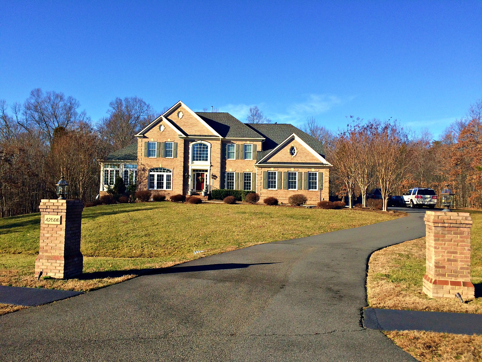 Brick colonial on 3 acres for under $1 million