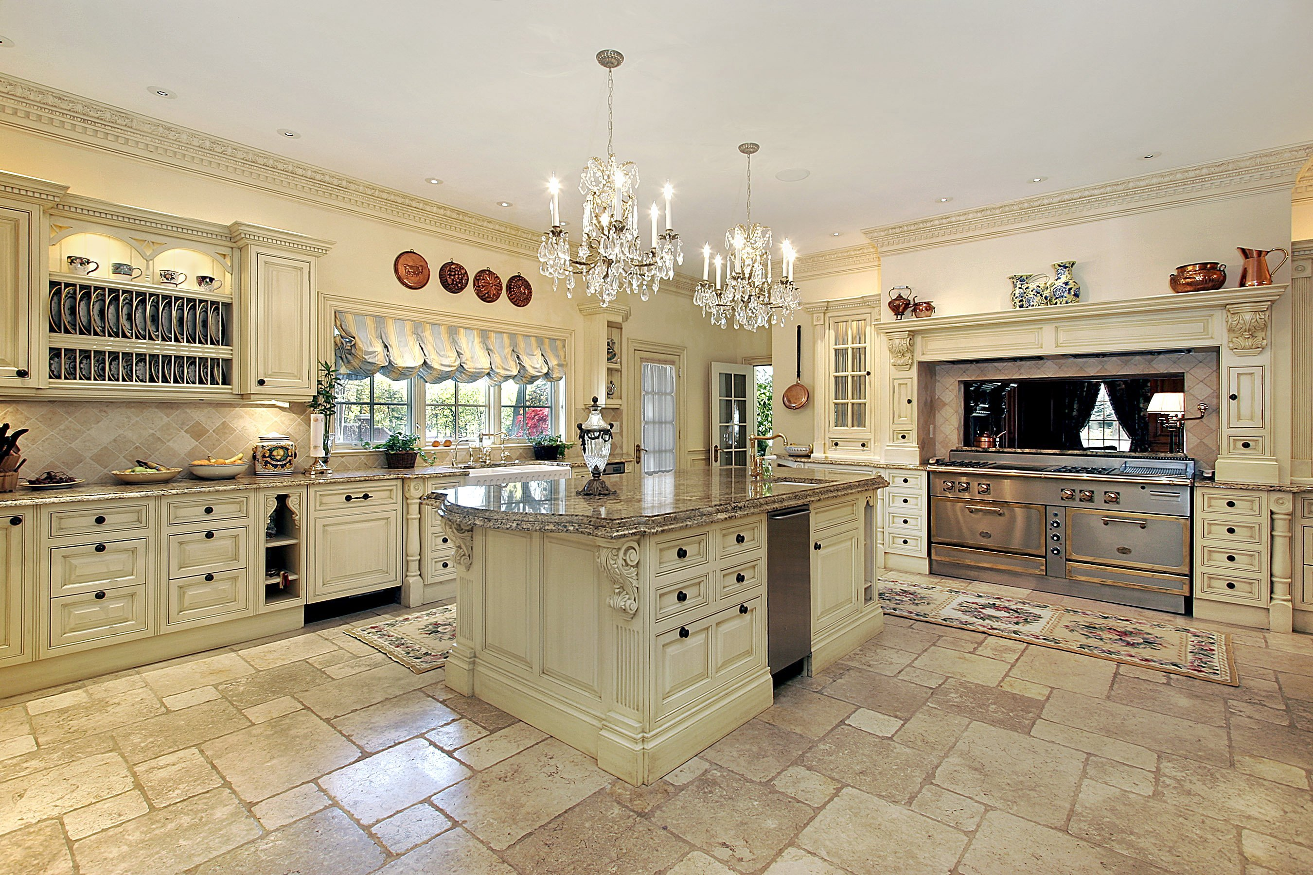 Staged luxury home kitchen