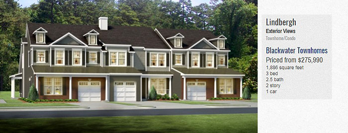 Blackwater Townhomes for Sale-Lindbergh Model