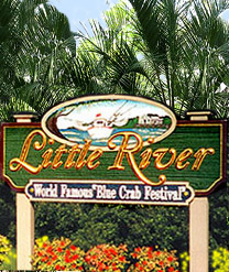 Welcome to Little River SC sign