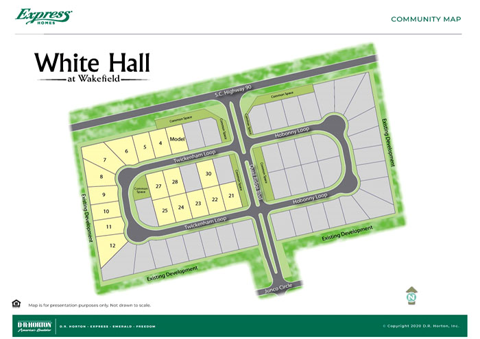 Whitehall at Wakefield Site Map