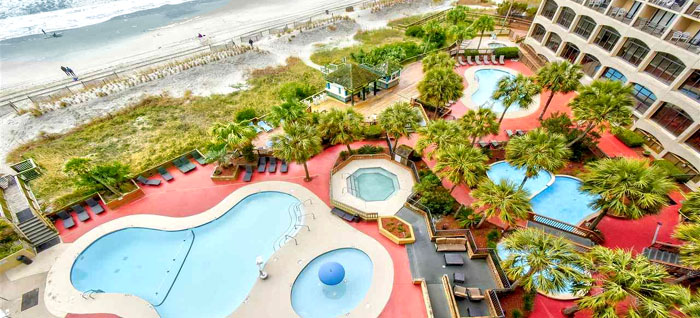 Pools at Beach Cove Resort in North Myrtle Beach