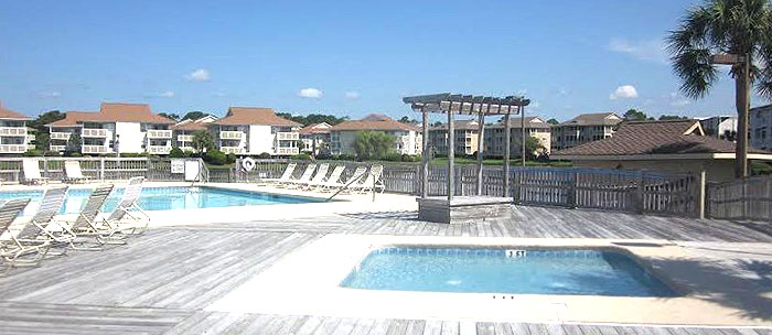 Pool and Deck at Bermuda Run in Cherry Grove
