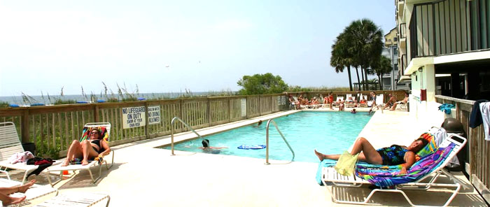 Pool at Crescent Sands in Crescent Beach