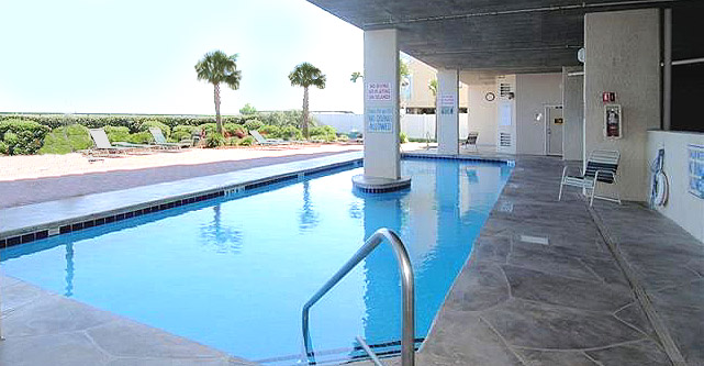 Pool at North Shore Villas in Crescent Beach