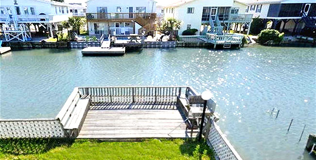 Waterway View in Cherry Grove Channel Home