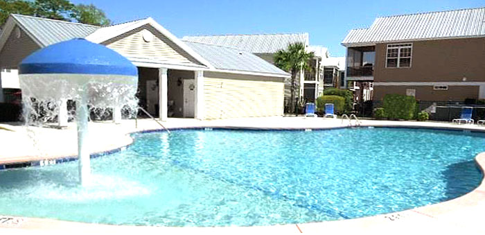 Pool at Cottages at the Surf
