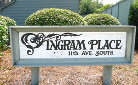 Ingram Place Sign