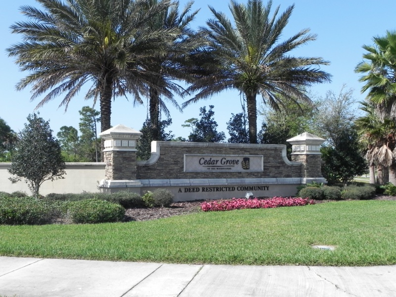 Cedar Grove Entrance Sign