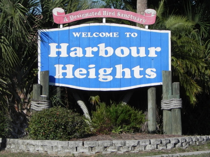 Harbor Heights sign