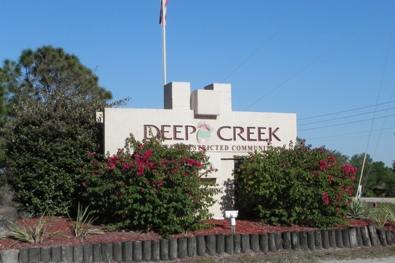Deep Creek sign