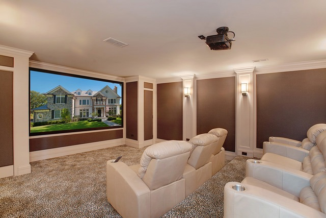 910 Private Rd home theater