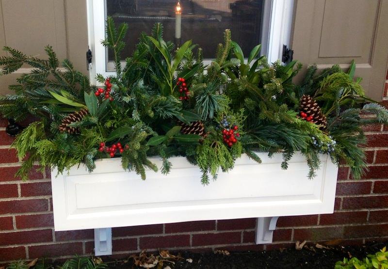holiday window box
