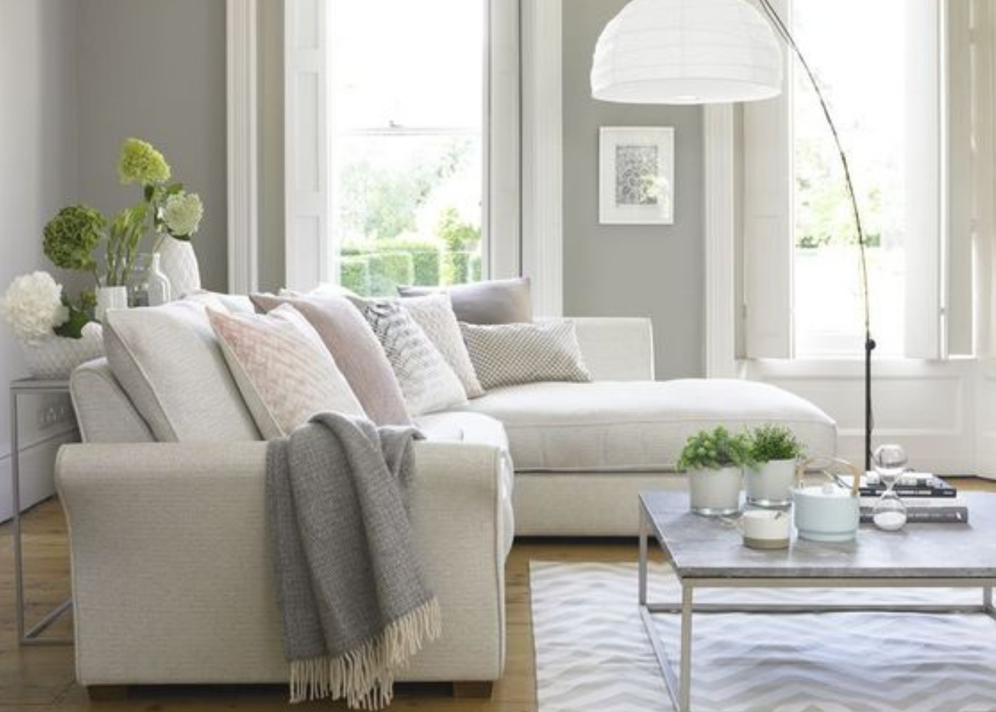 small living room with neutral colors
