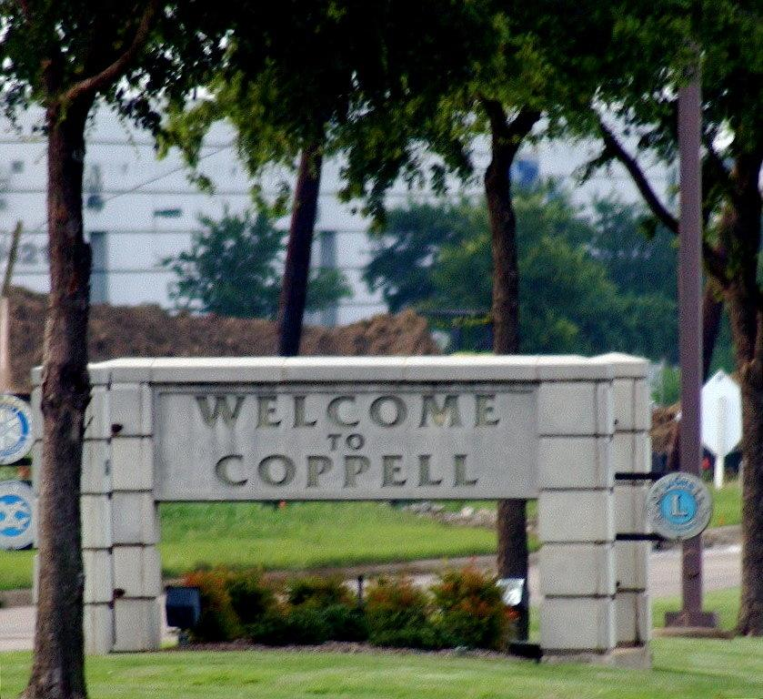 Coppell Texas Real Estate - Coppell Welcome Sign
