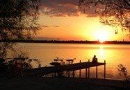 Oak PointTexas Real Estate - Oakpoint sunset on the lake