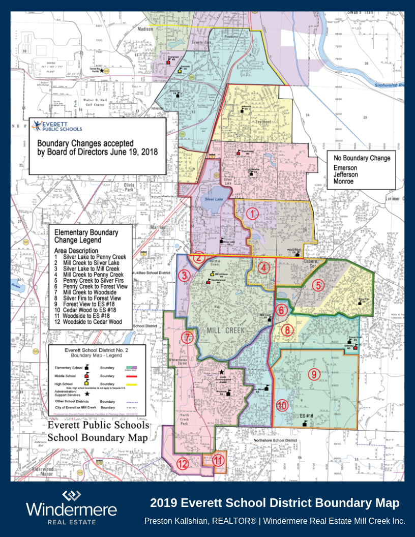 2019 Everett School District Boundary Map