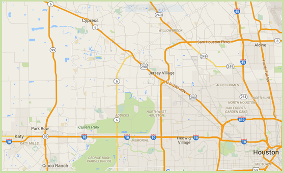 NW Houston Homes Online Map Search