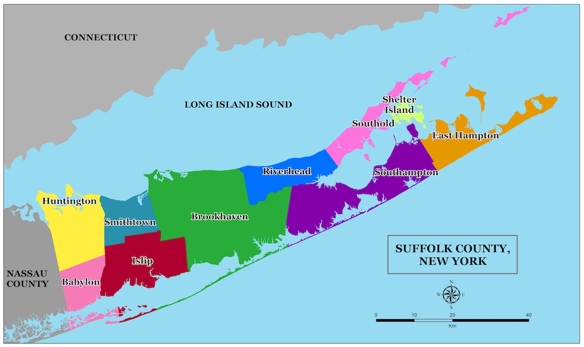Suffolk County Long Island Map