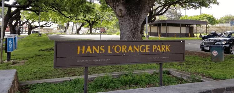 Hans l'orange park Waipahu Oahu