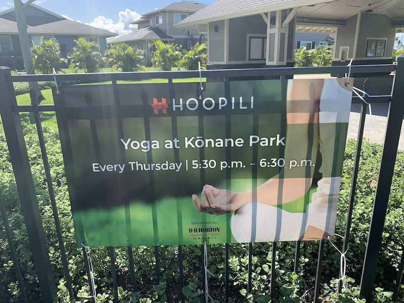 yoga at konane park in ho'opili