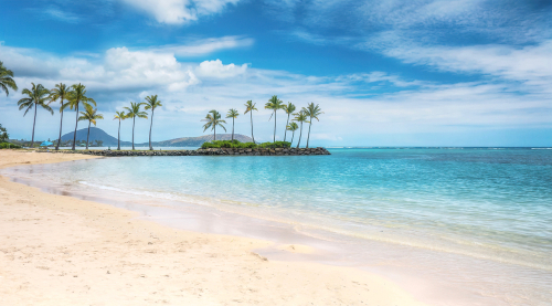 kahala beach oahu, hawaii