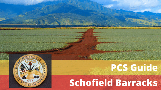 pcs to schofield barracks army base hawaii