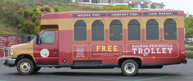 Balboa Peninsula Free Trolley