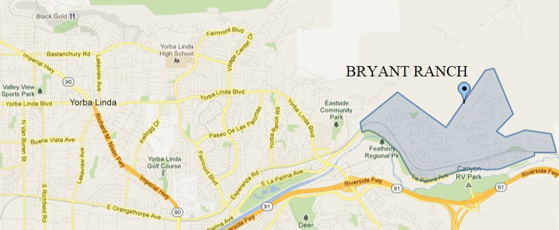 Welcome to Bryant Ranch in Yorba Linda CA