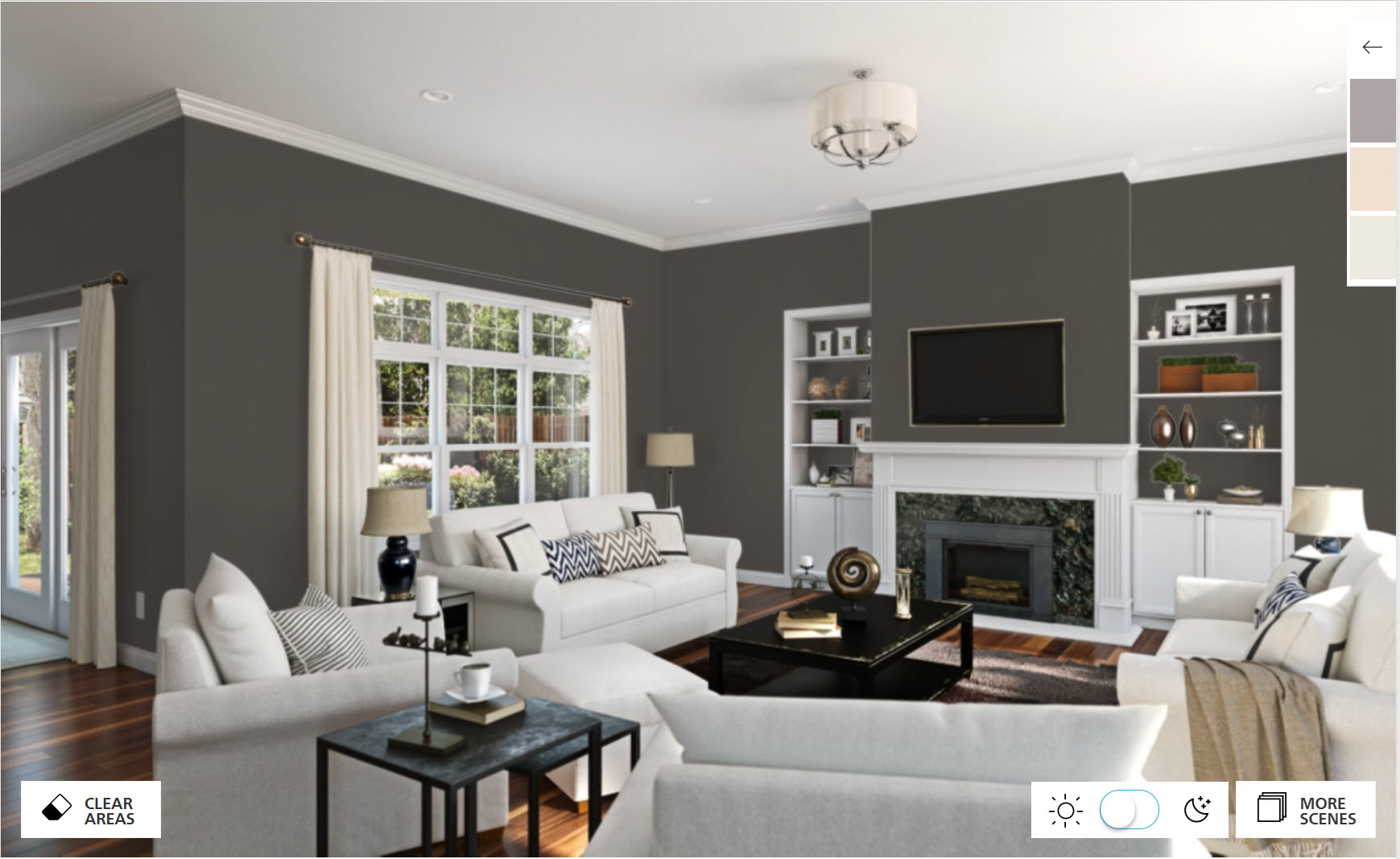 Walls painted in the Sherwin-Williams color, Urbane Bronze