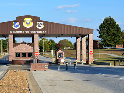 whiteman air force base entrance