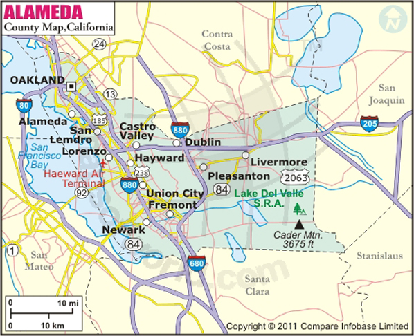 Alameda California Map Alameda County Map Alameda California Map