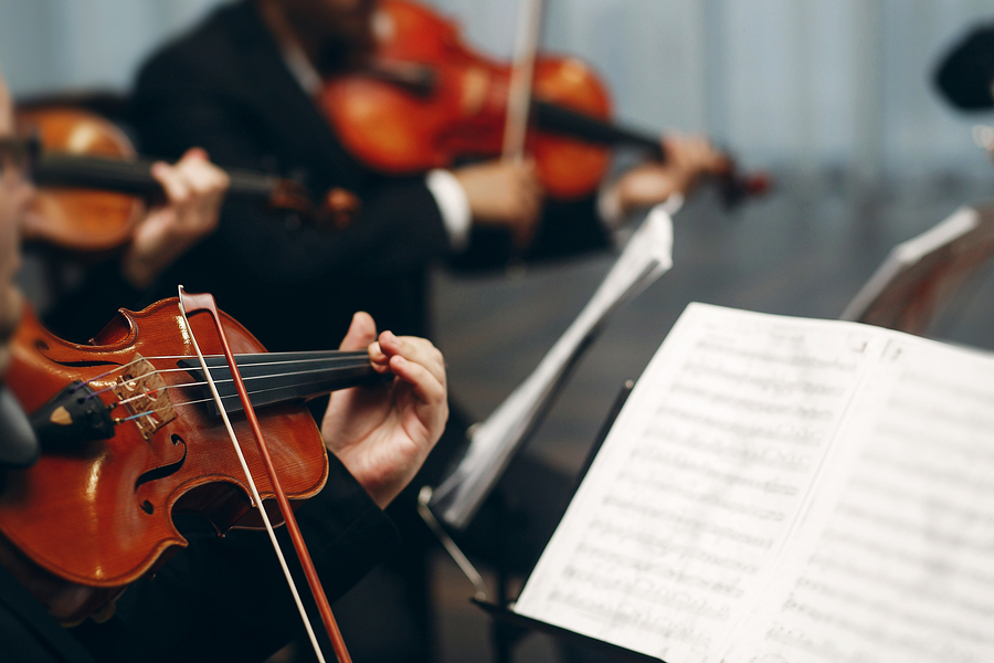 Hear classical music near coastal Orange County homes.