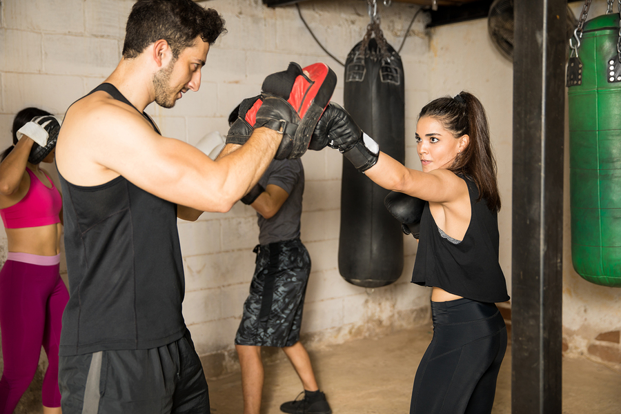 Newport Beach real estate owners do boxing workouts.