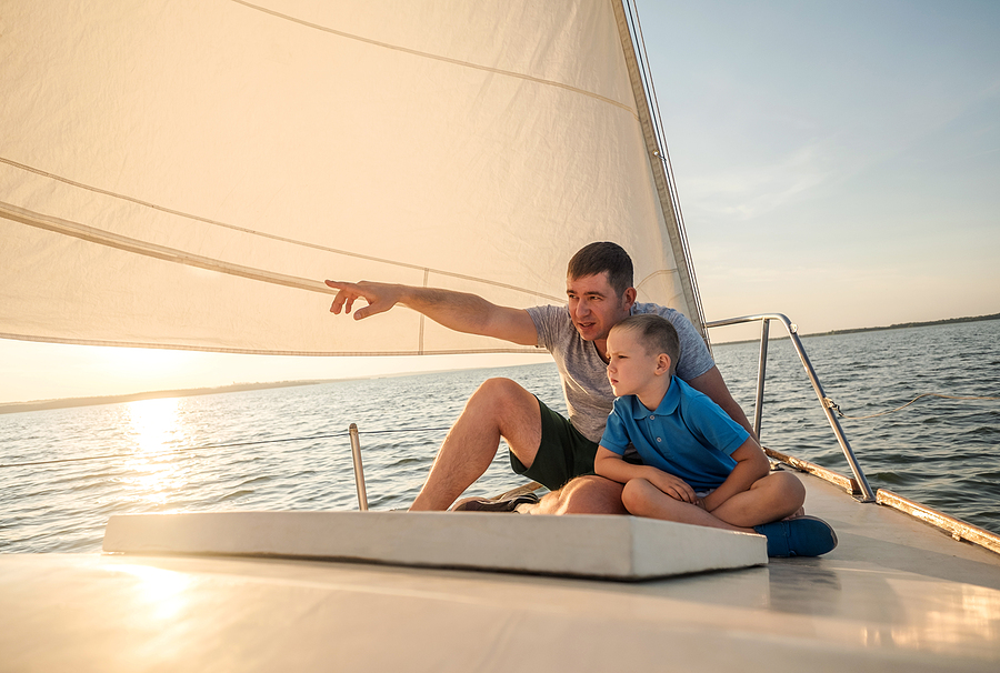 Newport Beach real estate owners go sailing at Marina Park.