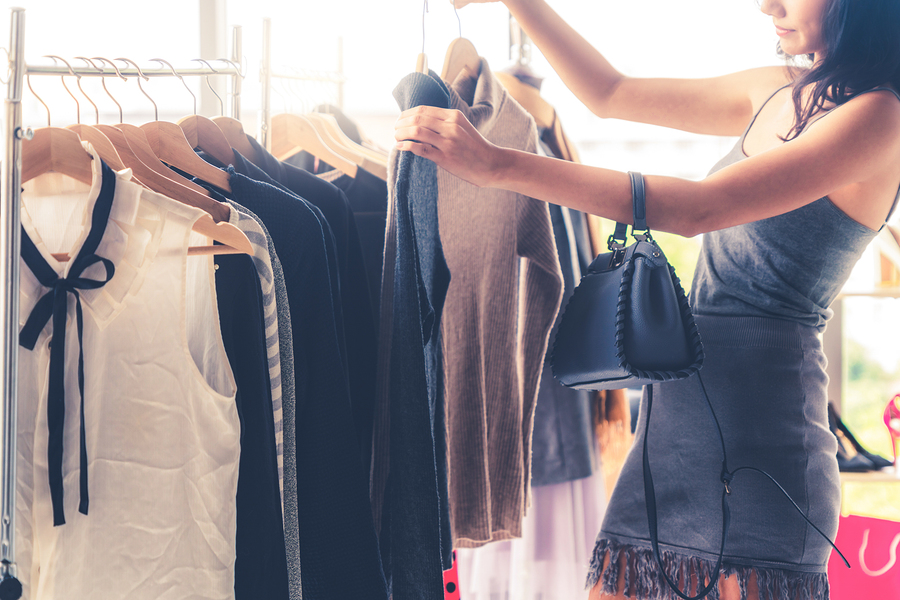 People living in coastal Orange County go shopping.