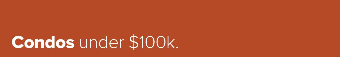 Condos under 100k