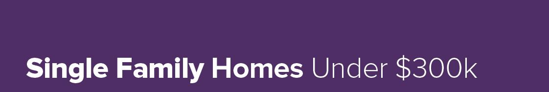 Homes Under $300k