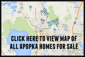 Map of Apopka Homes For Sale