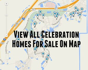 Map of Celebration Homes For Sale