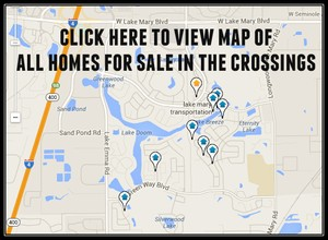 Map of Homes For Sale In The Crossings