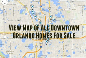 Map Of Downtown Orlando Homes For Sale